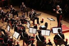 Concert d'armée de Carabinieri, Milan Images libres de droits