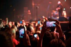 Concert d'enregistrement photo stock