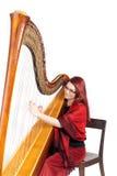 Concert d'harpe Images libres de droits