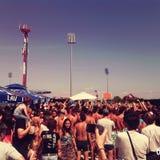 Concert dans la ville de Jagodina Photo libre de droits