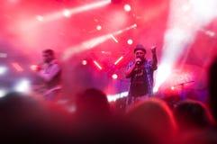 Concert de bande de Firkin Images stock