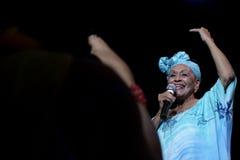 Concert de club social de Buena Vista en Hongrie images libres de droits