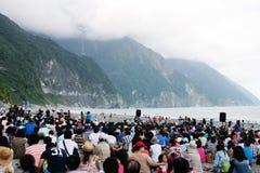 Concert de falaise de Qingjiang dans Taiwan Photo libre de droits