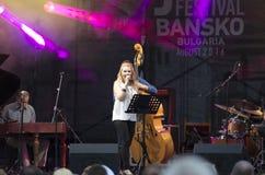 Concert de festival de jazz dans Bansko, Bulgarie Images libres de droits