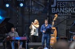 Concert de festival de jazz dans Bansko, Bulgarie Photographie stock libre de droits