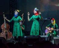 Concert de filles de Dakh dans Sentrum, Kiev, 23.04.2014 Photos stock