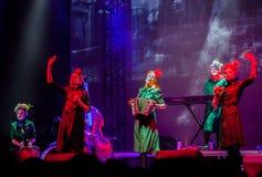 Concert de filles de Dakh dans Sentrum, Kiev, 23.04.2014 Images stock