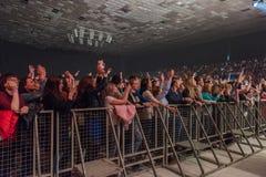 Concert de frappeur célèbre Basta photos stock
