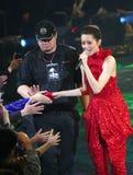 Concert de Gigi Leung dans Hom arrêté Images libres de droits