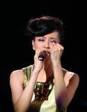 Concert de Gigi Leung dans Hom arrêté Images stock