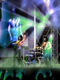 Concert de groupe de rock illustration stock