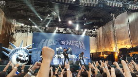 Concert de Helloween, Bucarest, Roumanie Photographie stock libre de droits