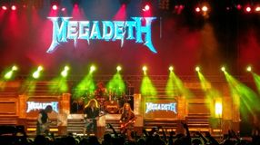 Concert de Megadeth, Bucarest, Roumanie Photos stock