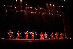 Concert de MOIS Hualun dans le réveillon de Noël Images libres de droits