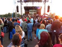 Concert de musique au quai Photos stock