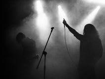 Concert de musique en métal de roche Photos stock