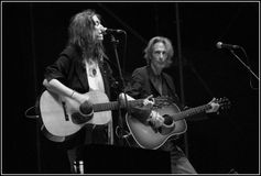Concert de Patti Smith Photo stock