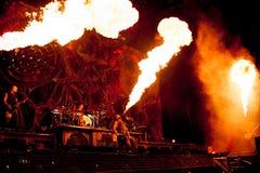 Concert de Rammstein Images libres de droits