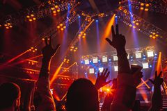 Concert de rock Images libres de droits