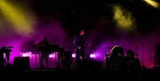 Concert de rock sous tension Images stock