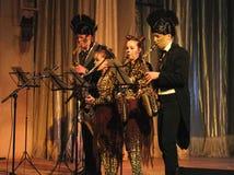 Concert de saxophone Images libres de droits
