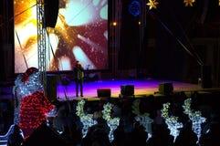 Concert de soirée du Nouveau an de ville de Varna Images libres de droits