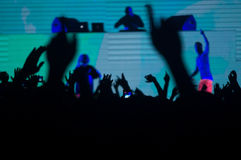 Concert de techno Images stock
