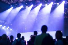 Concert de techno Photographie stock libre de droits