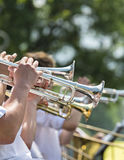 Concert de trompette Photographie stock libre de droits