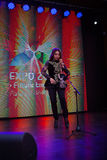 Concert de violon au pavillon de Kazakhstan, expo 2015 à Milan Photographie stock libre de droits