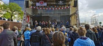 Concert du groupe Crystal Pasture photo stock