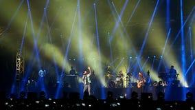 Concert du rouge foncé 5, Bucarest, Roumanie Images stock