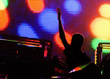 A concert of electronic music Royalty Free Stock Photo