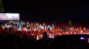 Concert exalted crowd Stock Photography