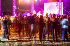 Concert extérieur lumineux et fort Photos libres de droits