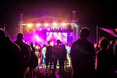 Concert extérieur lumineux et fort Images stock