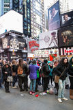 Concert Fans Times Square NYC Royalty Free Stock Photos
