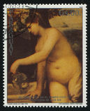 Concert in a Feld by Tizian. RUSSIA KALININGRAD, 19 APRIL 2017: stamp printed by Paraguay, shows Painting Concert in a Feld by Tizian, circa 1989 Stock Images