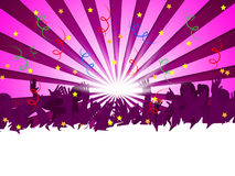Concert Festival Indicates Group Of People And Audience Royalty Free Stock Image