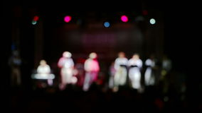 Concert of Folk Music stock video