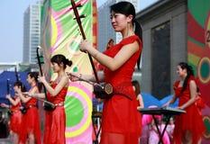 Concert folklorique de la Chine Image libre de droits