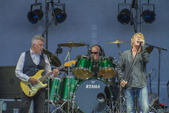 Concert at fredriksten fortress, manfred mann's earth band Royalty Free Stock Photo