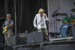Concert at fredriksten fortress, manfred mann's earth band Stock Image