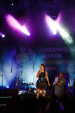 Concert of french singer Zaz on the jazz festival Stock Photo