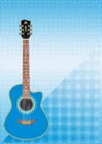 Concert guitar. Concert design template with guitar and place for text Royalty Free Stock Photo