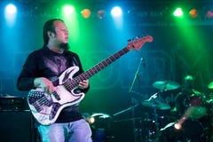 Concert guitarist Stock Photography