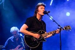 Concert of guitarist Steve Hackett. Lugano, Switzerland - 4 July 2009: concert of guitarist Steve Hackett, former member of Genesis, during Estival Jazz in Royalty Free Stock Image
