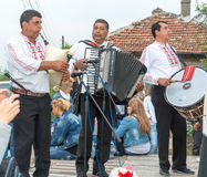 Concert of Gypsy folk musicians on the Nestenar Games in the village of Bulgarians, Bulgaria Stock Images