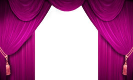 Concert hall. Pink curtain of a classical theater Stock Image