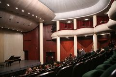 In concert hall Stock Images